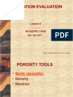 Formation Evaluation - Porosity Tool