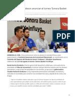 """30-07-2019 El ISJuventud y Codeson anuncian el torneo """"Sonora Basket - Yo Influyo"""" - Expreso"""