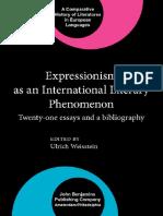 Epdf.pub Expressionism as an International Literary Phenome