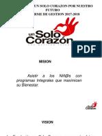 FUNDACIÓN UN SOLO CORAZÓN- GESTION 2017 Y 2018