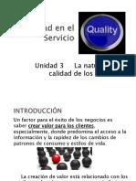 La naturaleza de la calidad en el servicio