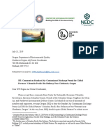 Joint Comments to DEQ on CPBR Ethanol Permit 7.31.2019