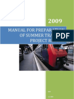 Manual for Preparation of Pgdm Project Report