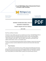 Detroit Center For Family Advocacy U.S. Ways and Means Testimony of Donald N. Duquette and Vivek S. Sankaran JULY 2010