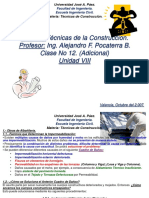 ClaseNo 12 Obras de Albañilería Unidad VIII