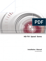 Installation Manual of HD-TVI Speed Dome