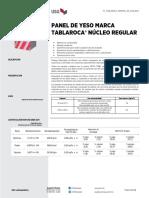 Tablaroca Gypsum Panel Normal Submittal Es Mex