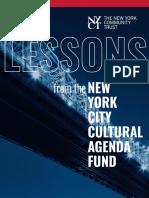 NYC Cultural Agenda Fund
