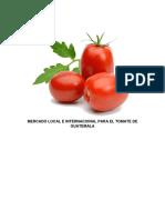 Estudio de mercado proyecto de tomate