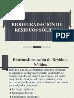 Biotransformación de Residuos Agricolas y Orgánicos Clase2010