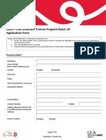 GTP 19 Application Form