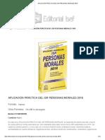 Aplicación Práctica Del Isr Personas Morales 2018