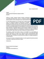 Carta y Propuesta de Auspicio