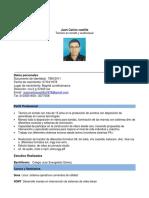 Hoja de Vida Juan Carlos Castilla