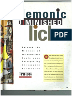 Diminished Licks Tutorial Keyboard Magazine 1994