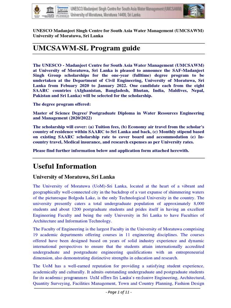 Umcsawm Saf Application Guide 2020 2022 Saf Postgraduate Education Master Of Science