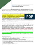 El Proceso Constitucional de Pérdida de La Investidura de Los Congresistas en Colombia