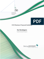 CSCI Business Proposal Guideline for Developers