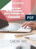 Canada eBook Crear Un Curriculum Para Canada