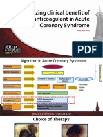 Optimizing Clinical Benefit of Anticoagulant in Acute Coronary Syndrome and Venous Thrombosis