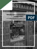 Introduccion a La Historia de Bares y Restaurantes D