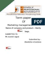 Akansha Marketing Term Paper