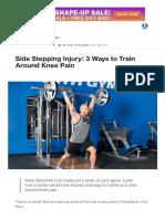 Side Stepping Injury_ 3 Ways to Train Around Knee Pain