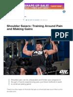 Shoulder Savers_ Training Around Pain and Making Gains