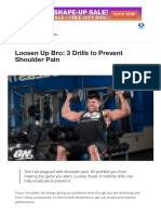 Loosen Up Bro_ 3 Drills to Prevent Shoulder Pain