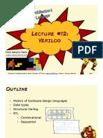 Lecture 12 - Verilog (FULL)