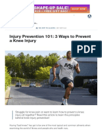 Injury Prevention 101_ 3 Ways to Prevent a Knee Injury