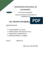 El Texto Informativo
