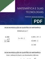 Matemática e Suas Tecnologias - Dicas Na Resolução de Questões de Matemática