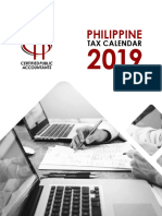 Philippine Tax Calendar 2019