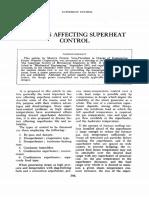 Factors Affecting Superheat Control 1951