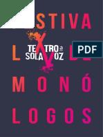 Programa Festival Monólogos TEATRO XALAPA 2019