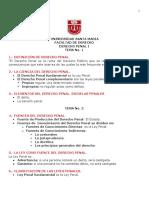 DERECHO PENAL - TEMA N° 1 AL TEMA 4 PRIMER PARCIAL. JRME Resumen Parcial Recorte