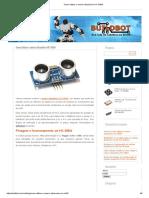 Sensor ultrassônico com Arduino