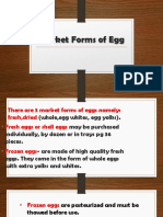 Market Forms of Egg