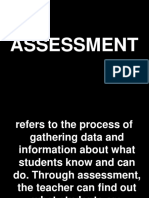 Meaning of Assessment, Evaluation, Testing