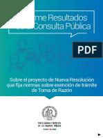 Informe Resultados de La Consulta Publica
