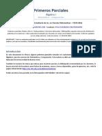 1ros Parciales (Álgebra I) F(X) Maths