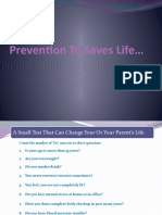 Prevention to Save Life