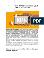 Indicadores de Trade Marketing