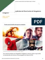 ¿En qué orden ver las películas de Marvel antes de Vengadores_ Endgame_ - MeriStation