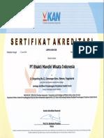 LSPPIU-009-IDN PT Bhakti Mandiri Wisata Indonesia
