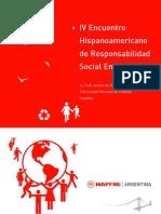 Cuadernillo IV Encuentro Hispanoamericano de RSE MAPFRE