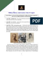 Military History Anniversaries 0801 Thru 081519