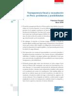 Transparencia Fiscal Internacional en El Perú