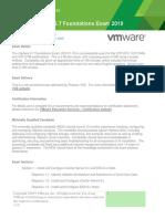 Vmw 2v0 01.19 Exam Prep Guide v1.0